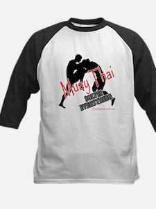 Muay Thai Solves Everything Kids Baseball Jersey