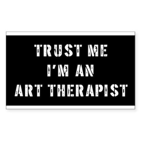 Art Therapist Gift Rectangle Sticker