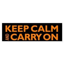 Keep Calm and Carry On Bumper Bumper Sticker