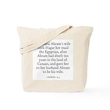 GENESIS  16:3 Tote Bag