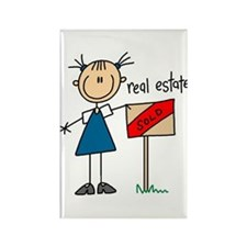 Real Estate Agent Rectangle Magnet