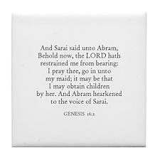 GENESIS  16:2 Tile Coaster