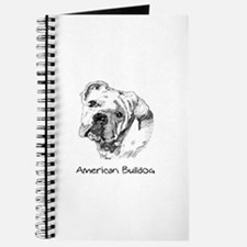 Cute American bulldog Journal
