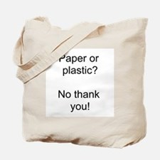 Paper Black Tote Bag
