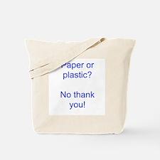 Paper Blue Tote Bag