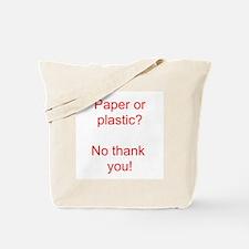 Paper Red Tote Bag