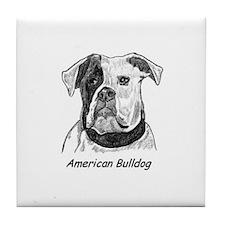 Unique American bulldog Tile Coaster