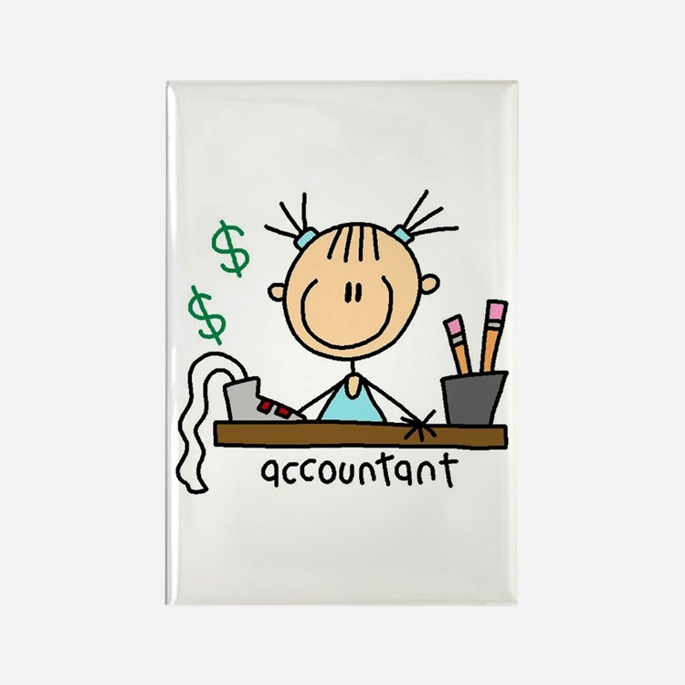 Professions Accountant Rectangle Magnet