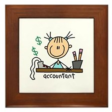 Professions Accountant Framed Tile
