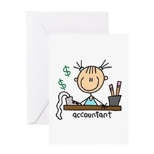 Professions Accountant Greeting Card