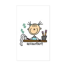 Professions Accountant Rectangle Decal