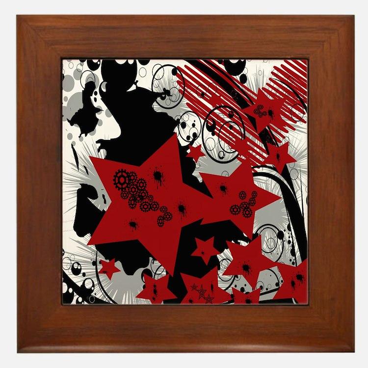 Distorted Bliss Framed Tile