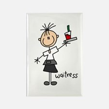 Waitress Rectangle Magnet