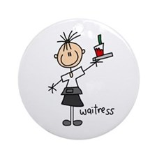 Waitress Ornament (Round)