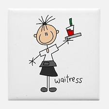 Waitress Tile Coaster