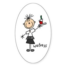 Waitress Oval Decal