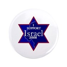 "I Support ISRAEL 2008 3.5"" Button (100 pack)"