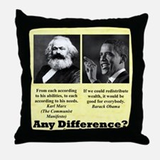 """""""Any Difference?"""" Throw Pillow"""