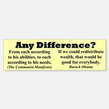 """Any Difference?"" Bumper Bumper Bumper Sticker"