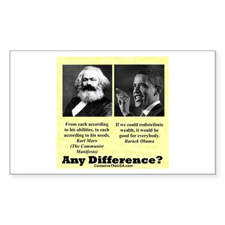 """Any Difference?"" Rectangle Sticker"