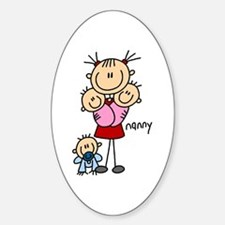 Nanny Profession Oval Decal