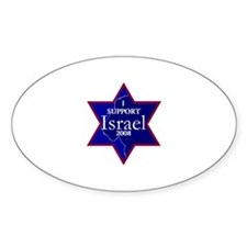 I Support ISRAEL 2008 Oval Decal