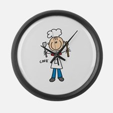 Professions Cook Large Wall Clock