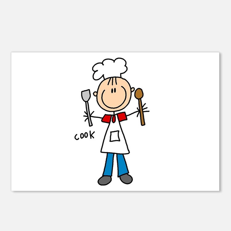Professions Cook Postcards (Package of 8)