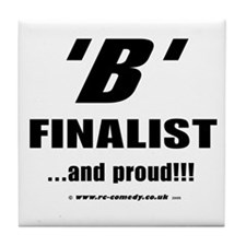 B Finalist Tile Coaster