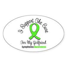 Lymphoma Cure (Girlfriend) Oval Sticker (10 pk)