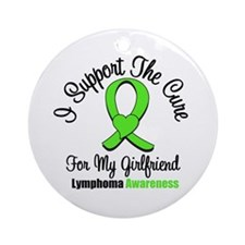 Lymphoma Cure (Girlfriend) Ornament (Round)