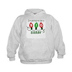 Big Sister to be - Christmas Lights Hoodie