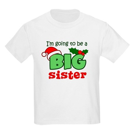 Big Sister to be - Christmas Kids Light T-Shirt