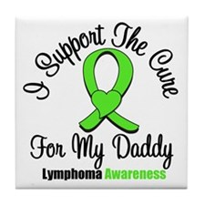 Lymphoma Cure (Daddy) Tile Coaster