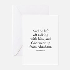 GENESIS  17:22 Greeting Cards (Pk of 10)
