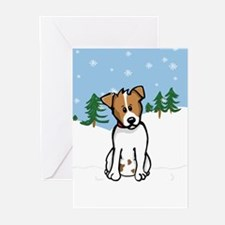 Jack Russell Snow Card - Blank (Pack of 10)