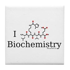 I love Biochemistry Tile Coaster