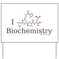 I love Biochemistry Yard Sign