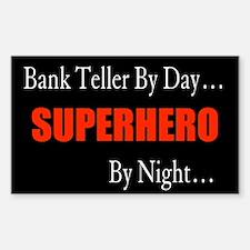 Bank Teller Gift Rectangle Decal