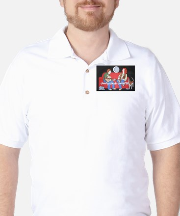 Comfy Couch Concerts Golf Shirt