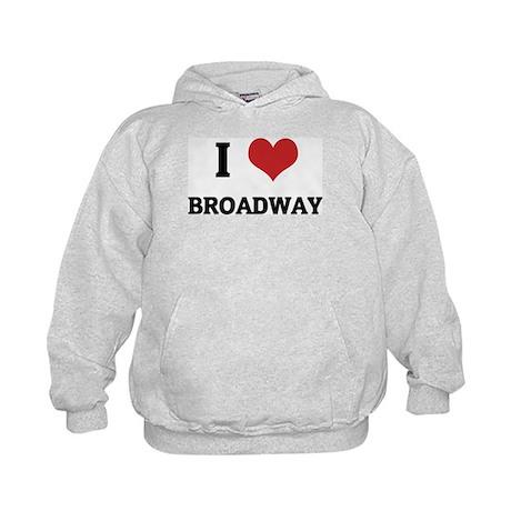 I Love Broadway Kids Hoodie