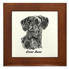 Unique Great dane Framed Tile