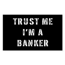 Banker Gift Rectangle Decal