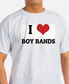 I Love Boy Bands Ash Grey T-Shirt