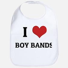 I Love Boy Bands Bib