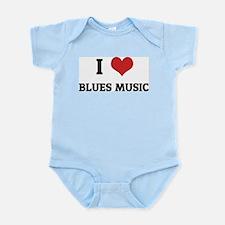 I Love Blues Music Infant Creeper