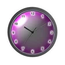 Purple Glass Lens Style Wall Clock