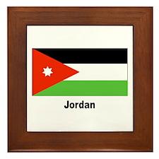 Jordan Jordanian Flag Framed Tile