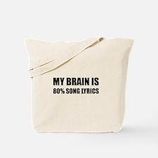 Brain Song Lyrics Tote Bag