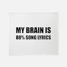Brain Song Lyrics Throw Blanket